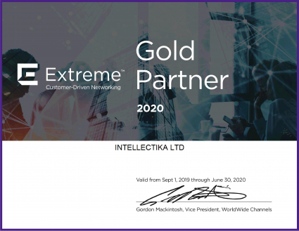 Extreme Networks Gold Partner